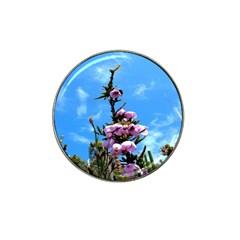 Pink Flower Golf Ball Marker 4 Pack (for Hat Clip)