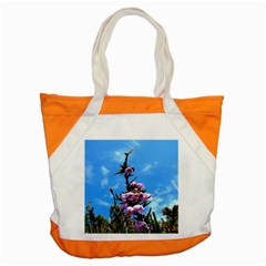 Pink Flower Accent Tote Bag