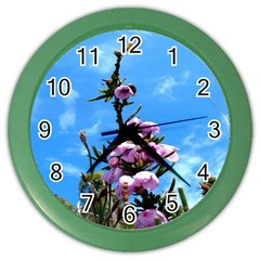 Pink Flower Wall Clock (Color)