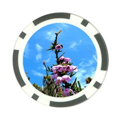Pink Flower Poker Chip