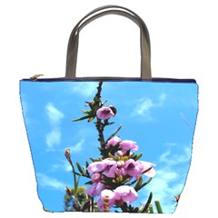 Pink Flower Bucket Handbag