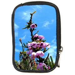 Pink Flower Compact Camera Leather Case