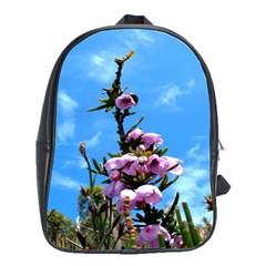 Pink Flower School Bag (Large)