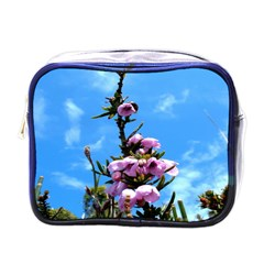 Pink Flower Mini Travel Toiletry Bag (One Side)