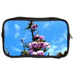Pink Flower Travel Toiletry Bag (two Sides)