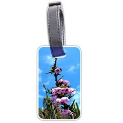 Pink Flower Luggage Tag (two Sides)
