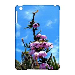 Pink Flower Apple iPad Mini Hardshell Case (Compatible with Smart Cover)