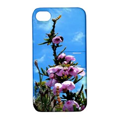 Pink Flower Apple iPhone 4/4S Hardshell Case with Stand