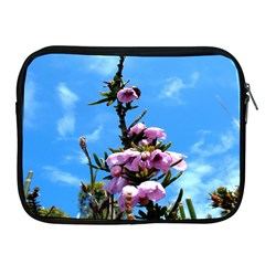 Pink Flower Apple iPad Zippered Sleeve