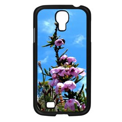 Pink Flower Samsung Galaxy S4 I9500/ I9505 Case (Black)