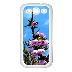 Pink Flower Samsung Galaxy S3 Back Case (White)