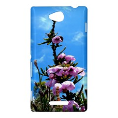 Pink Flower Sony Xperia C (S39H) Hardshell Case