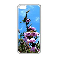 Pink Flower Apple iPhone 5C Seamless Case (White)