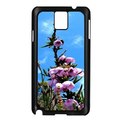 Pink Flower Samsung Galaxy Note 3 N9005 Case (Black)