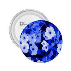 Blue Flowers 2.25  Button