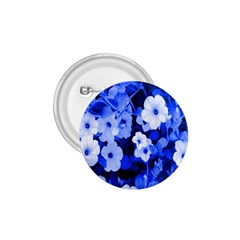 Blue Flowers 1.75  Button