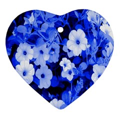 Blue Flowers Heart Ornament