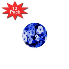 Blue Flowers 1  Mini Button (10 pack)