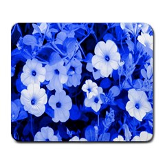 Blue Flowers Large Mouse Pad (rectangle)
