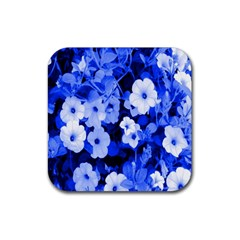 Blue Flowers Drink Coaster (Square)