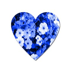 Blue Flowers Magnet (Heart)