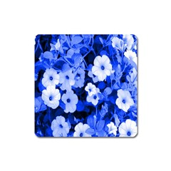 Blue Flowers Magnet (Square)