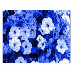 Blue Flowers Jigsaw Puzzle (Rectangle)