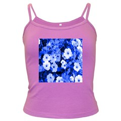 Blue Flowers Spaghetti Top (Colored)