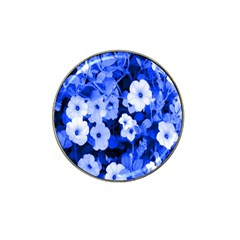 Blue Flowers Golf Ball Marker 4 Pack (for Hat Clip)