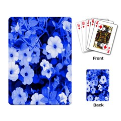 Blue Flowers Playing Cards Single Design