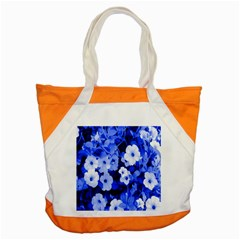 Blue Flowers Accent Tote Bag