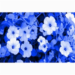Blue Flowers Canvas 12  x 18  (Unframed)