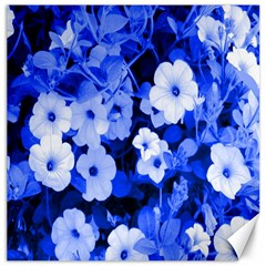 Blue Flowers Canvas 16  X 16  (unframed)