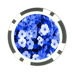 Blue Flowers Poker Chip