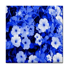 Blue Flowers Face Towel