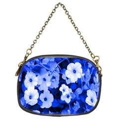 Blue Flowers Chain Purse (two Sided)