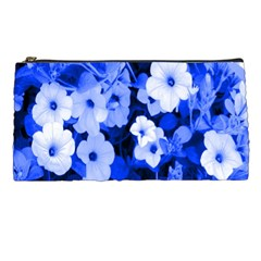 Blue Flowers Pencil Case