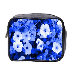 Blue Flowers Mini Travel Toiletry Bag (Two Sides)