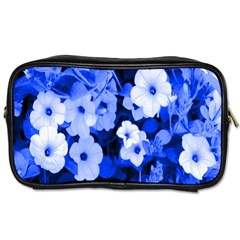 Blue Flowers Travel Toiletry Bag (Two Sides)