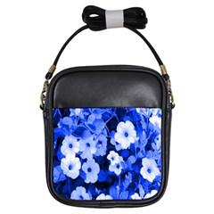 Blue Flowers Girl s Sling Bag