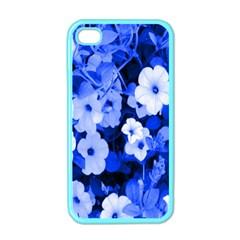 Blue Flowers Apple Iphone 4 Case (color)