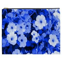 Blue Flowers Cosmetic Bag (XXXL)