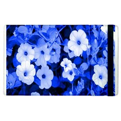 Blue Flowers Apple iPad 2 Flip Case