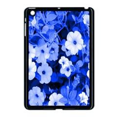 Blue Flowers Apple Ipad Mini Case (black)