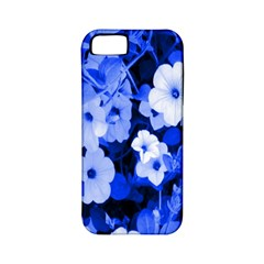 Blue Flowers Apple Iphone 5 Classic Hardshell Case (pc+silicone)