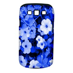 Blue Flowers Samsung Galaxy S III Classic Hardshell Case (PC+Silicone)