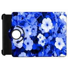 Blue Flowers Kindle Fire HD 7  (1st Gen) Flip 360 Case
