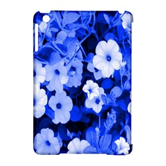 Blue Flowers Apple iPad Mini Hardshell Case (Compatible with Smart Cover)