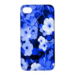 Blue Flowers Apple Iphone 4/4s Hardshell Case With Stand