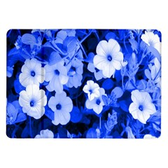 Blue Flowers Samsung Galaxy Tab 10 1  P7500 Flip Case